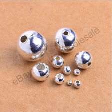 Wholesale 20-100pcs Tibetan Silver Round Spacer Beads 3MM 4MM 5MM 6MM 8MM