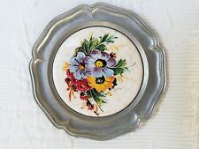 **NEU** Untersetzer aus Zinn Motiv Blumen Blumenmuster Glasuntersetzer OVP