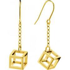 Orecchini Donna CK Calvin Klein Pendenti Cubo Oro PVD Jewerly Daring Idea Regalo
