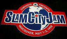 Vintage retro 90's Converse Slam City Jam Vancouver skateboard stickers & decals