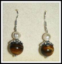 Handmade Tigers Eye Drop/Dangle Stone Fashion Earrings