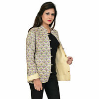 Reversible Quilted Jacket Ethnic Vintage Handmade Women Cotton Coat