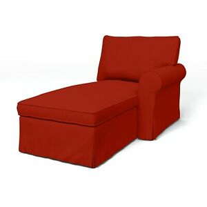 NEW Ikea Ektorp Idemo Red Chaise Lounge Cover NWT Couch