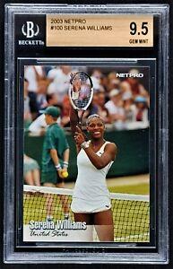 2003 NetPro Serena Williams Rookie Card SP #100 - BGS 9.5 GEM MINT - HOF