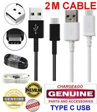 2M Metre 100% GENUINE CE CHARGER USB C TYPE CABLE for Samsung Galaxy S8 S9 & HTC