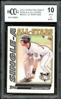 2010 Topps Pro Debut Single-A AS #SA22 J.D. Martinez Rookie BGS BCCG 10 Mint+