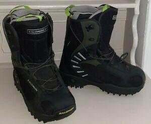 Salomon Dialogue Autofit Snowboarding/Skiing Boots UK Size 9.5 Black/ green