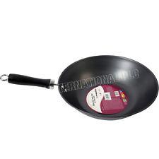 30CM WOK PAN BAKELITE HANDLE STIR FRY CHINESE COOKING KITCHEN SAUCEPAN NON STICK
