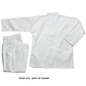 Karate JACKET GI TOP White size 0000,000,00,0,1,2,3,4,5,6,7,8,9 Martial Arts NEW