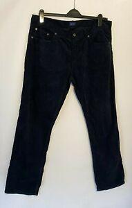 GANT Men's Corded Cords Trousers Men's Black W38 L32 100% American Cotton