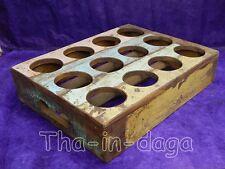 Porte Verre Lassi 38x29x8cm 1,7kg Vieux Teck Artisanat Indien Inde 3