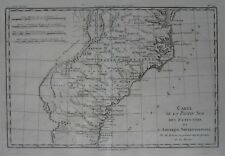 Original 1783 Bonne Map SOUTHEAST US Chesapeake Bay Cape Hatteras St Johns River