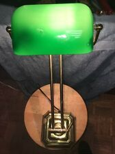 "Exquisite 2 Way Adjustable 22"" Banker Lamp Piano Lamp Student Lamp Emerald Shade"