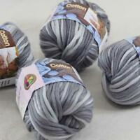 Sale 2Ballsx50g Super Soft Cotton Chunky 16Ply DIY Hand Wrap Shawl Knit Yarn 44