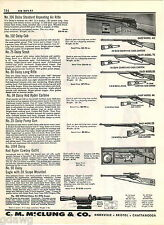 1957 ADVERT Daisy Air Rifle Eagle Scope Red Ryder Cowboy Carry Case Cub Scout