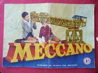 notice de montage MECCANO manuel d'instructions n° 1A 1958