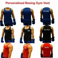 Boxing Vest Training Top Sleeveless Fitness Gym Sports Red Blue Black New