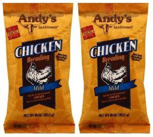 Andy's Seasoning Chicken Breading Mild 2 Pack