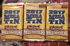 3x 2017 Mega Tin - Mega Pack - Booster Pack - 1st  YuGiOh Sealed Packs