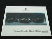 2012 2011 Porsche 911 Black Edition Brochure 997 Carrera Coupe Cabriolet Catalog