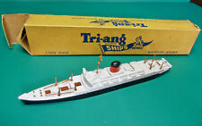 TRIANG MINIC SHIPS M708 RMS SAXONIA RESTORED ALL MASTS WITH BOX