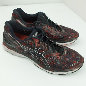 Asics Gel Kayano 23 Athletic Running Shoes Mens Size 15 Black Red T6A0N