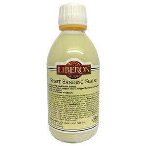Liberon Spirit Sanding Sealer 250ml Ideal for Sealing Bare Wood before Waxing