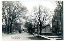 Victor NY -WEST MAIN STREET FROM CHURCH- Postcard Ontario County