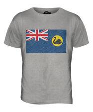 WESTERN AUSTRALIA SCRIBBLE FLAG MENS T-SHIRT TEE TOP GIFT AUSTRALIAN FOOTBALL