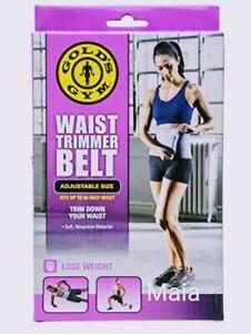Gold's Gym Waist Trimmer Belt Adjustable Siz e Fits up To 50-inch Unixes