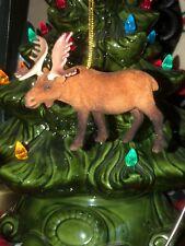 3 1/2� Flocked Elk Moose Christmas Tree Ornament Decoration~ Excellent Condition