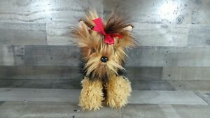 """The Bearington Collection Yorkshire Terrier  Chewie 11""""  Realistic Plush Toy Dog"""