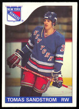 1985 86 OPC O PEE CHEE HOCKEY #123 TOMAS SANDSTROM RC ROOKIE NM N Y RANGERS CARD