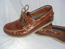 M&S BLUE HARBOUR para hombre nrown Cuero Con Cordones Mocasín Zapatos Talla Uk 6.5 EU 40 en muy buena condición