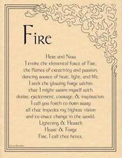 FIre Evocation Parchment Page for Book of Shadows, Altar!