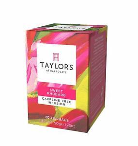 Taylors of Harrogate Sweet Rhubarb Infusion, 20 Teabags