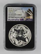 Perth Mint Moneda de plata de 1 onza 50 aniversario de la luna aterrizaje 2019