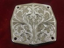 Lowrider Hydraulic Pump Backing Plates Chrome Engraved.