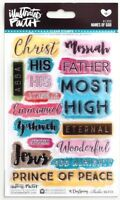 Names of God Illustrated Faith Bible Journaling Clear Acrylic Stamp Set NEW!
