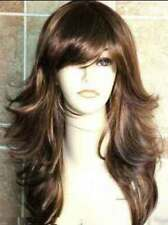 AUCJF2205  newest style long brown mix blonde wigs hair for women wavy hair wig