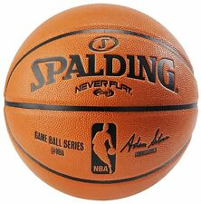 Spalding NBA Never Flat Game Ball Official Size 7 29.5 Indoor Outdoor Basketball