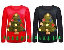 New UniSex Long Sleeve Men's Women Christmas Tree Flash Light Knitted Jumper