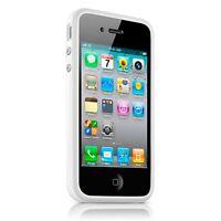 Coque Housse Bumper HQ Spécial Pour iPhone 4S / 4 Blanc + film av / ar