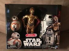 """Star Wars The Force Awakens Exclusive 12"""" C-3PO, BB-8 & RO-4LO Figure Set NEW"""