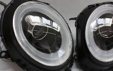 FRONT SCHEINWERFER MINI COOPER R55 R56 R57 SCHWARZ LED BAR LIGHTBAR RINGE TFL