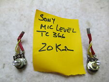 Sony Tc366 Microphone Level Record Pot - One each