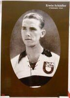 Erwin Schädler + Fußball Nationalspieler DFB + Fan Big Card Edition B809