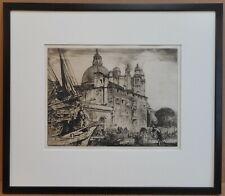Santa Maria Venice. Original Signed Etching by listed artist Frank Brangwyn 1908