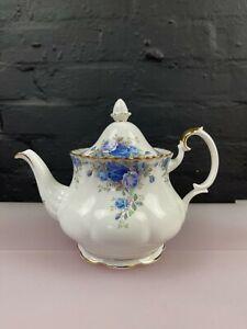 "Royal Albert Moonlight Rose Large Tea Pot 7.5"" High New 2nd Quality"