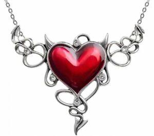 Alchemy England - Devil Heart Genereux Necklace, Sinner Gothic Love, Beauty Gift